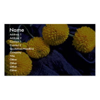 Beautiful Marigolds, on fabric Business Cards