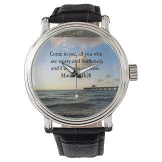 BEAUTIFUL MATTHEW 11:28 SCRIPTURE VERSE WATCH