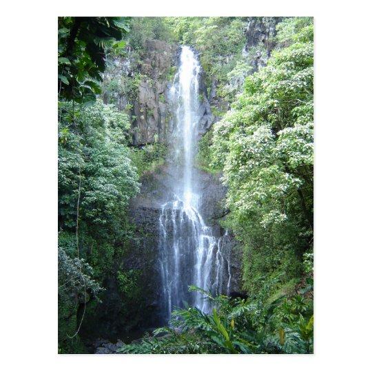 Beautiful Maui Waterfall Postcard