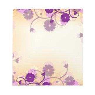 Beautiful Mauve Flowers Modern Art Notepad