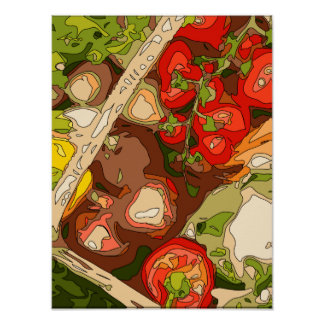 Beautiful Medley of Organic Fruits and Vegetables Poster