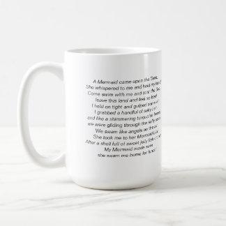 Beautiful Mermaid and Mermaid Poem on a Mug