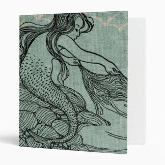 Beautiful Mermaid On The Sea Shore Vinyl Binders