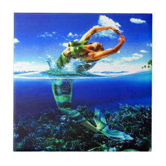 Beautiful Mermaid Paintings Tile