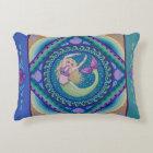 Beautiful mermaid swimming in the sea. decorative pillow