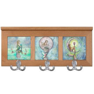 Beautiful Mermaids Fantasy Art Coat Racks