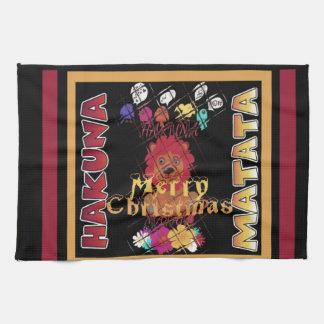 Beautiful Merry Christmas Hakuna Matata Latest Art Hand Towel
