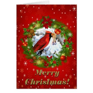 Beautiful Merry Christmas Vintage Christmas Scene Card