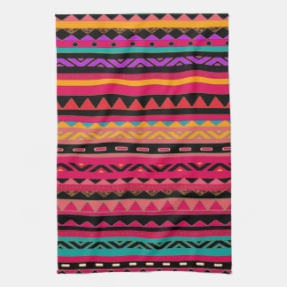 Beautiful Mexican Aztec Colorful Pattern Kitchen Towel