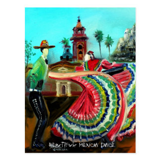 BEAUTIFUL MEXICAN DANCE Postcard