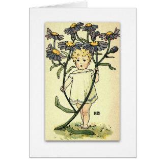 Beautiful Michaelmas Daisy by NELLIE BENSON Card