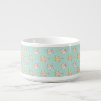 beautiful, mint,shabby chic, country chic, floral, bowl