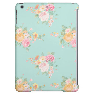 beautiful, mint,shabby chic, country chic, floral, iPad air case