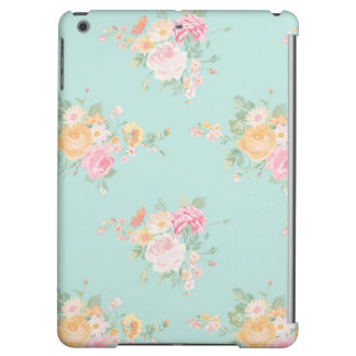 beautiful, mint,shabby chic, country chic, floral, iPad air cases