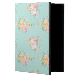 beautiful, mint,shabby chic, country chic, floral, iPad air cover