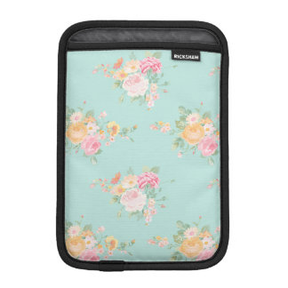 beautiful, mint,shabby chic, country chic, floral, iPad mini sleeve