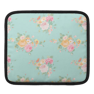 beautiful, mint,shabby chic, country chic, floral, iPad sleeve