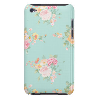 beautiful, mint,shabby chic, country chic, floral, iPod touch cover