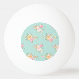beautiful, mint,shabby chic, country chic, floral, ping pong ball