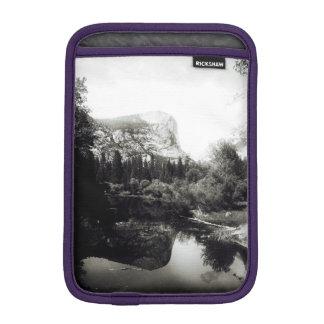 Beautiful Mirror Lake Yosemite   Black and White iPad Mini Sleeve