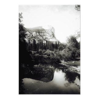 Beautiful Mirror Lake Yosemite | Black and White Photograph