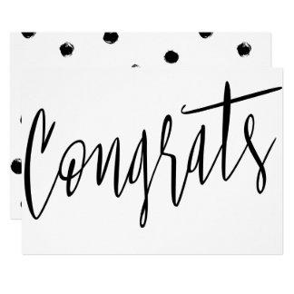 "Beautiful modern chic ""Congrats"" Card"