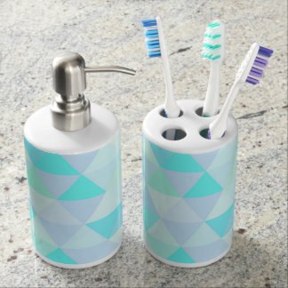 Beautiful Modern Geometric triangle Pattern Toothbrush Holders