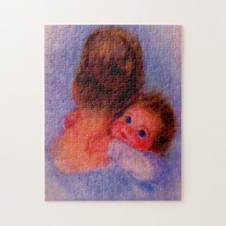 beautiful Mom and baby Jigsaw Puzzle