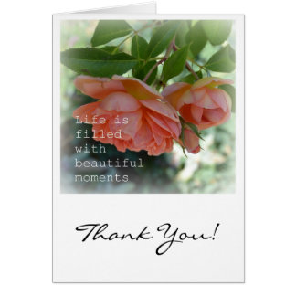 Beautiful Moments Romantic  Thank You Card
