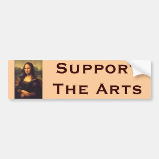 Beautiful Mona Lisa Bumper Sticker