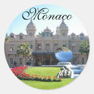 Beautiful Monaco Round Sticker