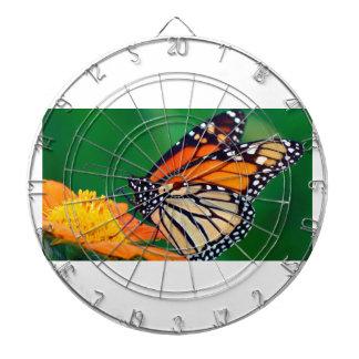 Beautiful Monarch Butterfly Dartboard With Darts