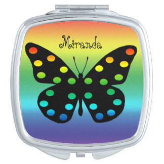 Beautiful Monarch Butterfly in Abstract Compact Mirrors