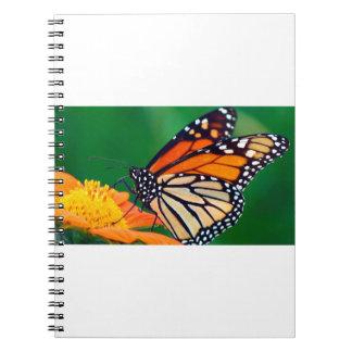 Beautiful Monarch Butterfly Spiral Notebook
