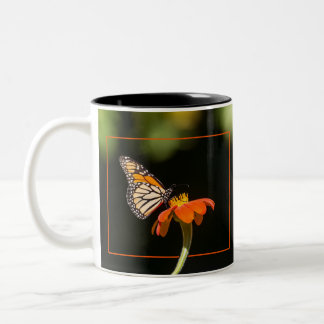 Beautiful Monarch Butterfly Two-Tone Coffee Mug