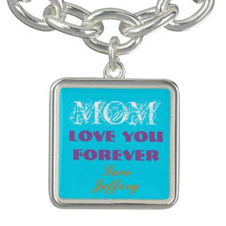 Beautiful Monogram Charm Bracelet For Mom