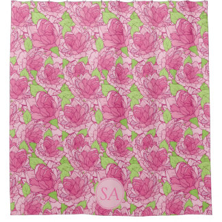 Beautiful Monogrammed Pink Roses