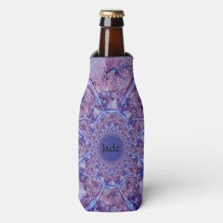 Beautiful monogrammed purple kaleidoscope bottle cooler