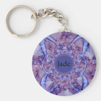 Beautiful monogrammed purple kaleidoscope keychain