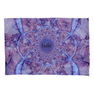Beautiful monogrammed purple kaleidoscope pillowcase