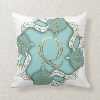 Beautiful Monogrammed Throw Pillow