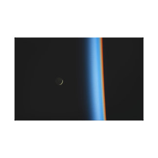 Beautiful Moon and Earth from Orbit Canvas Print
