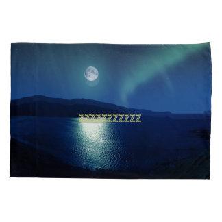 Beautiful Moon Over a Lake Pillowcase