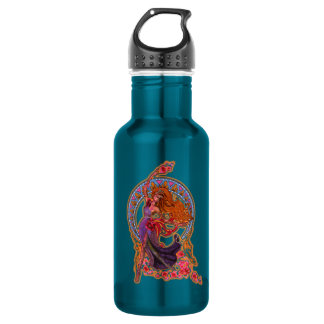 Beautiful morning fairy flies with moon 532 ml water bottle