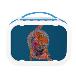 Beautiful morning fairy flies with moon lunch box