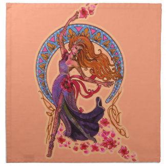 Beautiful morning fairy flies with moon napkin