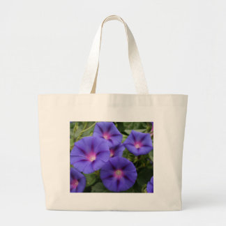 Beautiful Morning Glories in Bloom Large Tote Bag