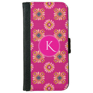 Beautiful Moroccan w/Monogram iPhone 6 Wallet Case