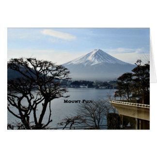 Beautiful Mount Fuji Card