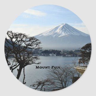 Beautiful Mount Fuji Classic Round Sticker